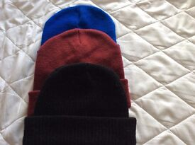 A selection of woolly hats
