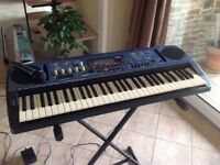 Yamaha PSR-77 Electronic Keyboard with stand