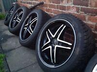 Mercedes, Audi, Volkswagen, Wheels white Tyres like New, 20 inch, 5x112, 275/40/20