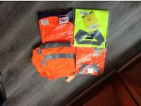 High visibility shirts and trousers ,brand new