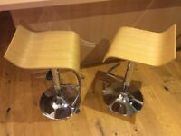 Breakfast bar stools, pair, great condition. Must sell. Bargain £50 the pair Ono.