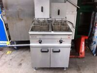 ELECTRIC TWIN TANK FRYER CATERING COMMERCIAL CAFE KEBAB CHICKEN BBQ RESTAURANT SHOP BAR TAKE AWAY