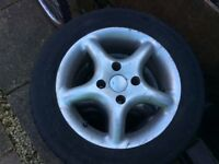 "TSW alloys 14"" ford fitting with tyres"
