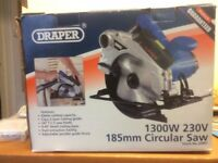 Draper 1300W 185mm Circular Saw 230V ** Only Used Twice ** Excellent Condition in Original Box **