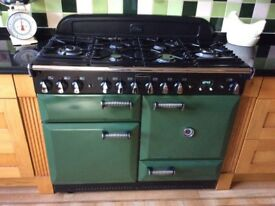 Rangemaster ELAN cooker 110cm wide, green and black