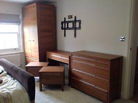 John Lewis American Walnut bedroom furniture - excellent condition