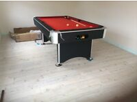 7ft american pool table aramith balls ( snooker & pool) jonny 8ball cues various sizes 6ft surface