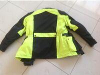Motorcycle jacket unisex size 38 high vis