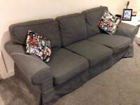 Sofa- Grey 3 Seat IKEA Erktop Sofa.