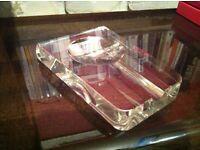 Art Deco Crystal / Cut Glass Cigar Tray