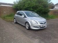 2010 Vauxhall Corsa SRI, 1.398 cc, metallic silver, low mileage car for sale
