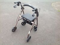 Folding mobility walking aid