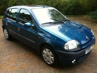 2000 RENAULT CLIO ALIZE 1.4 5-DOOR **1 FORMER KEEPER**PRISTINE CONDITION**MOT UNTIL FEB 2018**