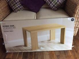 Brand New In Box NEXT Roma Oak Coffee Table