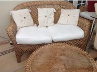 Rattan conservatory furniture set