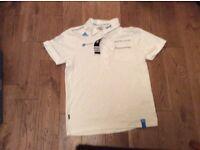 New Sky white polo shirt, small