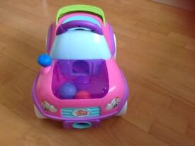 Immaculate Bright Starts baby/toddler ride on 'Having a ball roadster' car