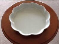 Denby Greystone Flan Dish - 25cms