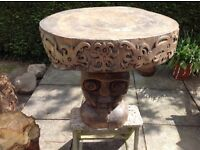 Indonesian table. Hand carved.