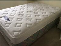Double storage bed. The mattress is nearly new very comfortable.