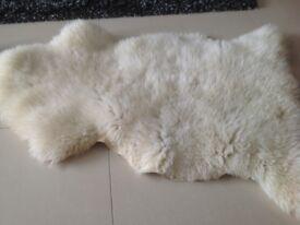 Sheepskin rugs x 4