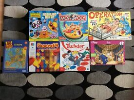 Various board games and jigsaws