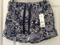 Blue/white Shorts Size 10