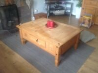 coffee table, sideboard and 2 side tables solid wood