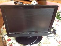 Small television. Screen diagonal 19 inches
