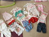 Huge Lot of baby girl clothes newborn and 0-3 excellent condition (mainly 0-3 months)