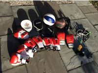 Job lot of boxing / boxercise / fitness / boot camp kit