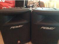 Pair of Peavey speakers