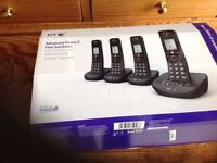SET OF 4 BT XENON 1500 phones , with J Lewis guarantee until Oct '18