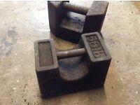 Old vintage weights