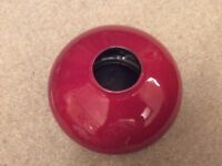 Vintage vase, brick red with black interior. Classic AMANO design