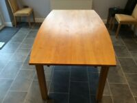 **JUST REDUCED TO £200**Large extendable John Lewis Red Alder Wood Dining Table