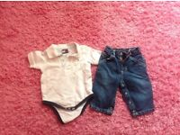 Tommy Hilfiger boys 3-6 months jeans & t-shirt