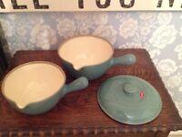 Vintage Rare Denby Saucepans.