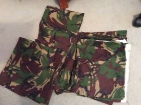 Double duvet and 2 pillowcases in camouflage material