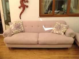 Four seater sofa and matching chair
