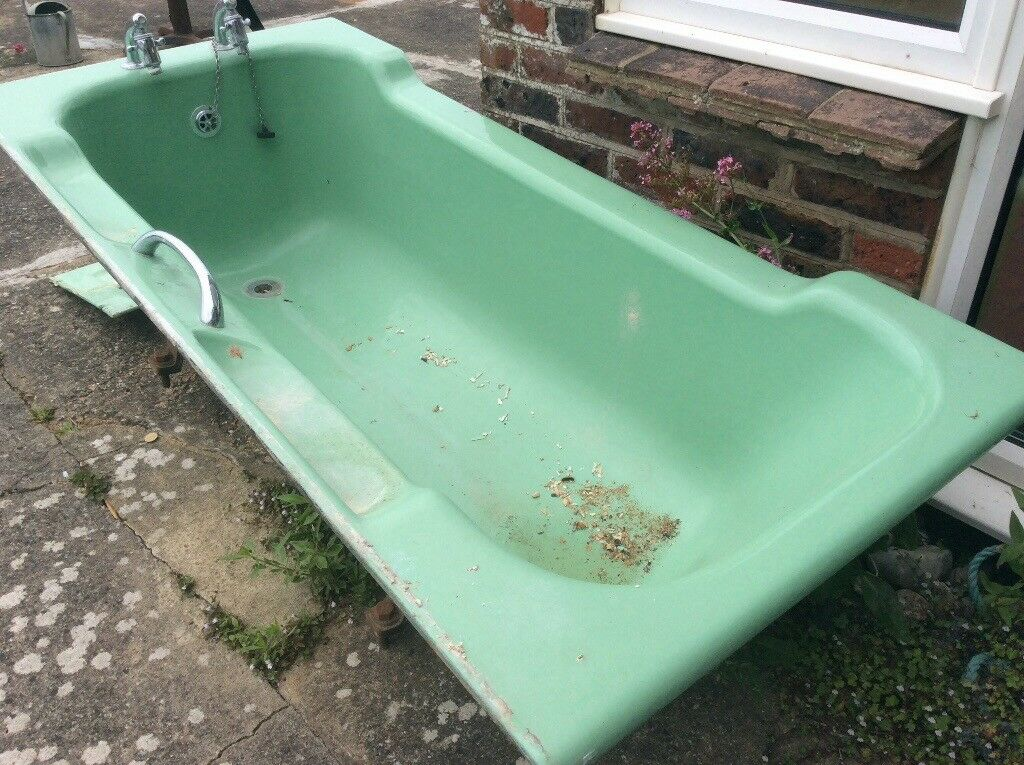 Genuine cast iron Art Deco bath with side panels and taps. | in ...