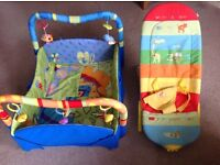 Bright Starts Baby Play Gym and Mothercare Bouncer