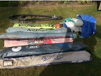 Windsurfer boards and sails