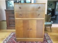 Chest of Drawers with Cupboard, Mid Century Retro, by Meredew