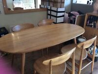 Retro dining room table, chairs & drinks cabinet
