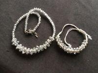 Sparkly Necklace & Bracelet Set