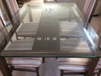 Italian dinning table and 4 chairs