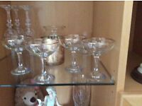 5 original babycham glasses