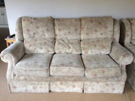 Three seater sofa & armchair