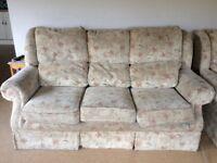 Three seater sofa & armchair